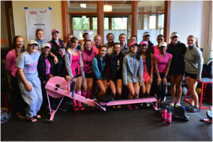 Pocock Masters and Holy Names Juniors Pink Erg Top Fundraising Teams